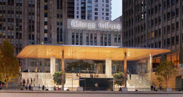 Majitel vlajkového obchodu Apple v Chicagu hledá kupce