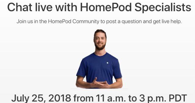 Apple bude 25. července pořádat živě vysílanou Q&A událost týkající se HomePod