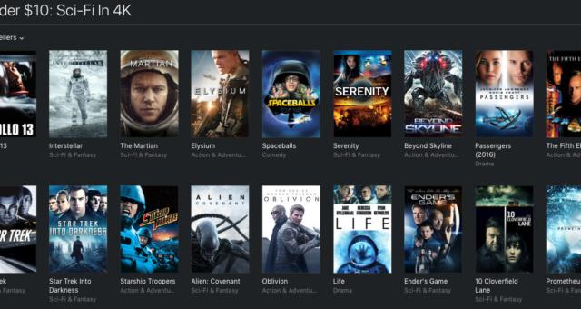 Apollo 13, Star Trek a další filmy na iTunes jsou nyní zlevněné