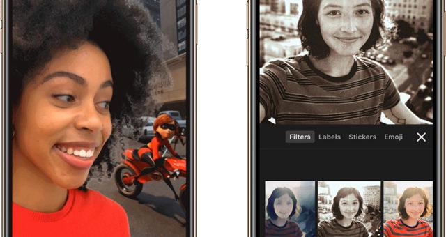 Aplikace Clips získala nové selfie scény, filtry, samolepky a hudbu
