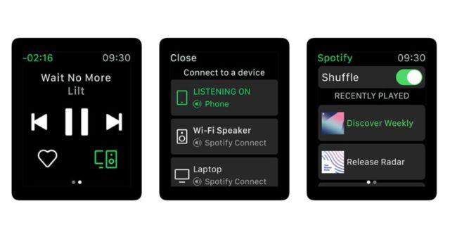 Nejnovější aktualizace Spotify přináší podporu Apple Watch Series 4