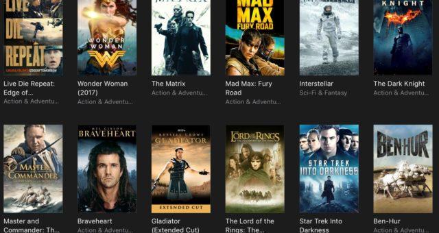 Gladiator, Men in Black a další filmy na iTunes jsou nyní zlevněné