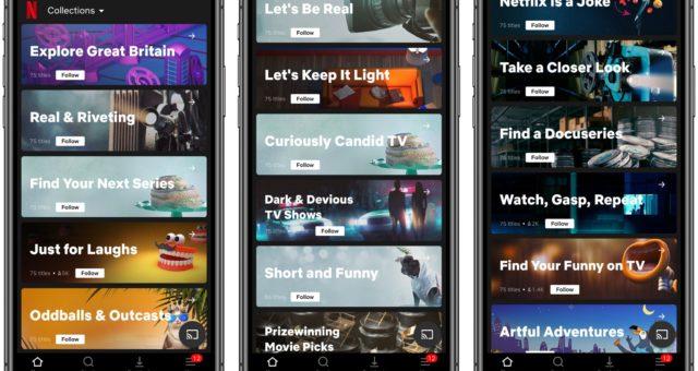 Netflix testuje tematické sbírky věcí na shlédnutí vybrané experty