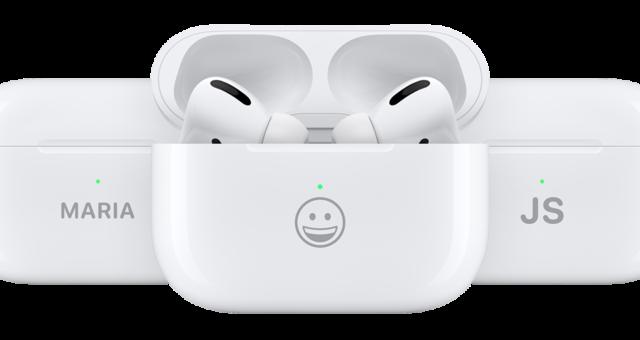 Nově je možné gravírovat i emoji do nabíjecího pouzdra AirPods a AirPods Pro