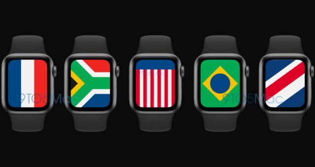 """watchOS 7 obsahuje nové """"mezinárodní"""" ciferníky s vlajkami z celého světa"""
