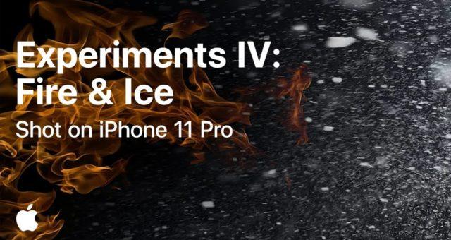 'Experiments IV: Fire & Ice' zachycují elementy pomocí  iPhone 11 Pro