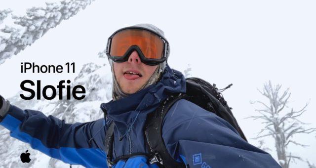 """Apple sdílí nová """"slofie"""" videa pořízená na snowboardu pomocí iPhone 11"""