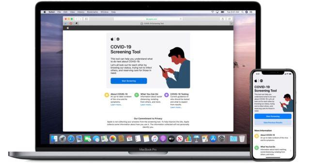 Společnost Apple spouští speciální aplikaci COVID-19 a webovou stránku založenou na vedení CDC