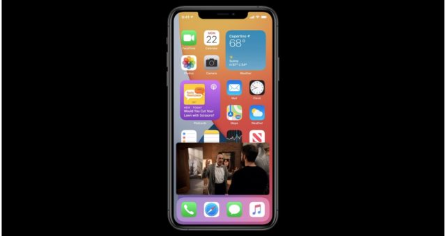 Systém iOS 14 přináší do iPhonu funkci picture-in-picture