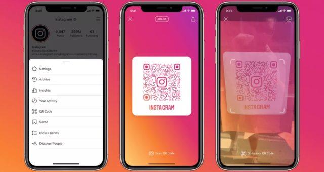 Instagram globálně zavádí QR kódy pro jednotlivé profily