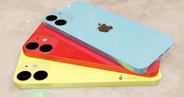 Obrázky konceptů pro iPhone 12 ukazují různé možnosti barev a duální zadní fotoaparát