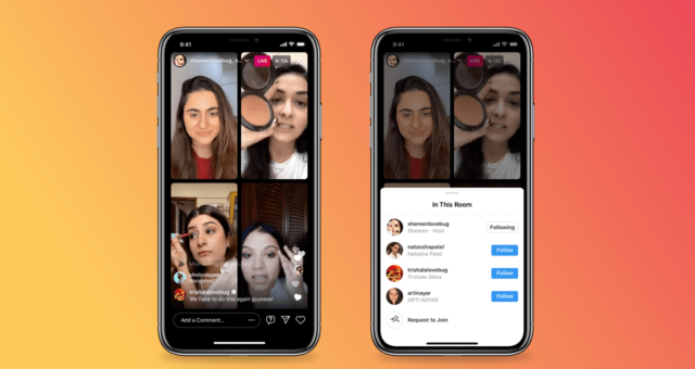 Nová funkce Instagramu umožňuje živé vysílání až čtyř lidí najednou