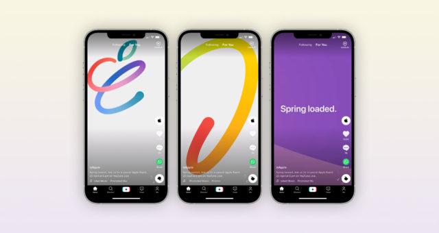 """Apple na TikToku propaguje svou zítřejší akci """"Spring Loaded"""""""
