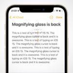 iOS 15 přináší zpět lupu pro přesný výběr textu