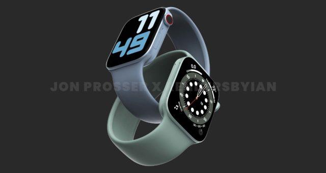 Apple Watch Series 7 mohou být k dispozici ve větších velikostech 41mm a 45mm
