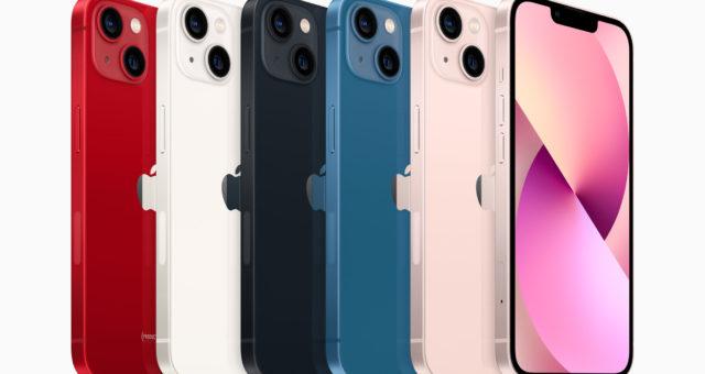 Technické specifikace pro iPhone 13 mini a iPhone 13